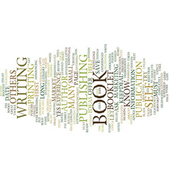 You can be an author text background word cloud vector