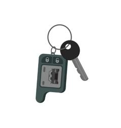 Car keys isolated key from auto flat cartoon vector image vector image