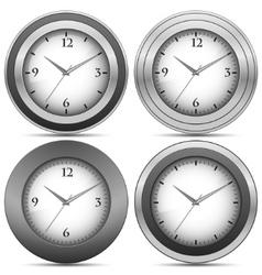 chrome office clocks vector image vector image