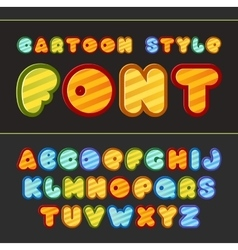 Colorful cartoon font Cute alphabet vector image vector image