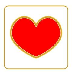 Golden Heart icon vector image vector image