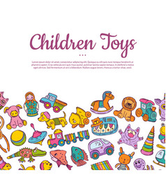 hand drawn children or kid toys vector image vector image