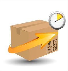 Time delivery services concept vector image vector image