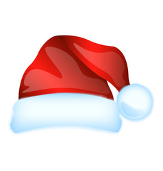 red santa claus hat isolated vector image