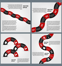 Set of infographics design template vector