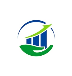 stock exchange safe business finance logo vector image vector image