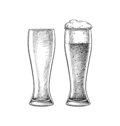 Beer glasses isolated vector