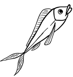 black and white fish vector image vector image