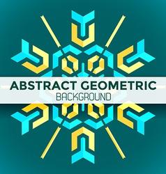 blue yellow green abstract geometric mandala vector image