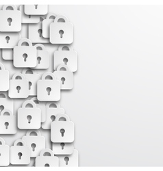 modern lock icons background vector image