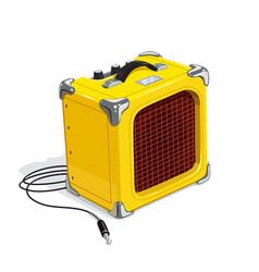yellow guitar combo amplifier vector image