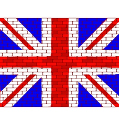 brick english flag vector image vector image