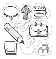 Hand Drawn Management Design Line vector image