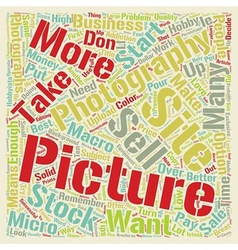 How To Sell Your Pictures As Stock Photography vector image vector image