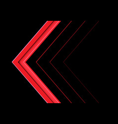 abstract red arrow direction on black vector image