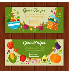Advertisement set of concept banners vector