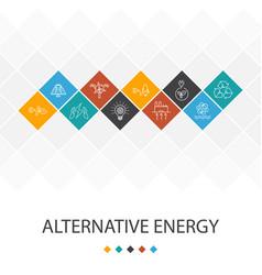 alternative energy trendy ui template infographics vector image