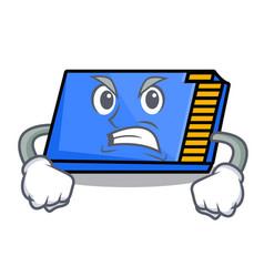 angry memory card mascot cartoon vector image