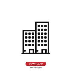 apartment icon vector image