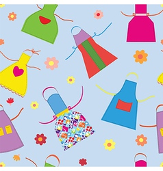 Aprons kitchen seamless pattern funny vector