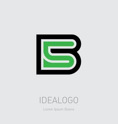 B and 5 initial logo b5 initial monogram logotype vector