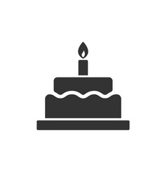 birthday cake with candle images vector image