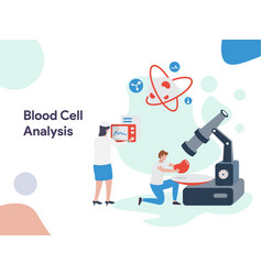 blood cell analysis vector image