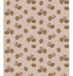 Brown background with coffee beans seamless vector