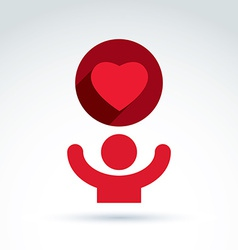 charity and donation symbol of a red loving vector image