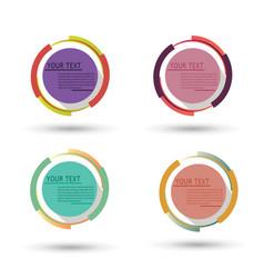 circle badge label design logo vintage round vector image vector image