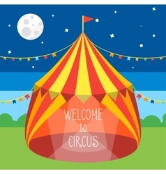Circus Tent Invitation Card vector