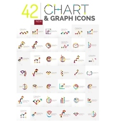 Collection of chart logos vector image