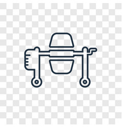 concrete mixer concept linear icon isolated on vector image