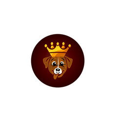 cute king dog cartoon character vector image