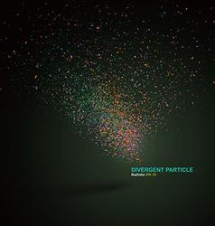 Divergent particle background vector