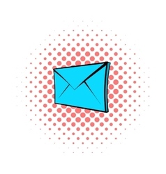 E-mail icon pop-art style vector