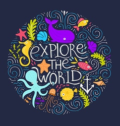 Explore The World vector
