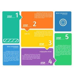 Flat style infographics background vector image vector image
