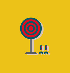 Flat target and darts eps 10 in sticker style vector