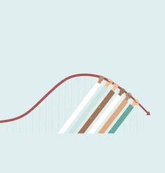flatten curve concept for coronavirus vector image