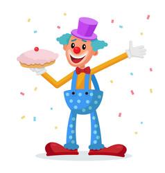 funny clown decorative icon trick costume vector image