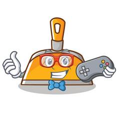 gamer dustpan character cartoon style vector image