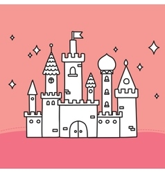 Hand drawn doodle large castle vector image
