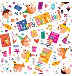 Happy Birthday kids pattern vector