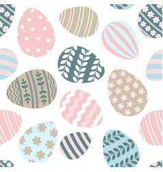 happy easter greeting seamless pattern vector image