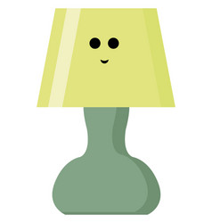 happy lamp on white background vector image