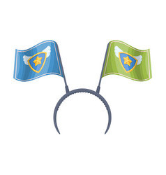 headgear fan with flagsfans single icon in vector image
