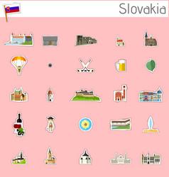 icons of slovakia vector image