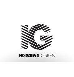 Ig i q lines letter design with creative elegant vector