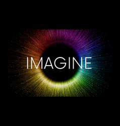 imagine word written on black background vector image